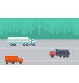 Landscape of transportation on the road vector image