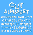 Paper alphabet with cut letters vector image