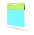 Blank plastic packaging vector image