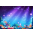 blur background with underwater cave vector image