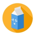 Packagemilk box vector image