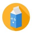 Packagemilk box vector image