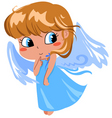 shy angel vector image