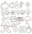 Autumn design elements vector image