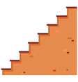 Stairs made of brick vector image