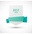 White paper banner vector image