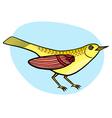 Cartoon beautiful yellow bird vector image vector image