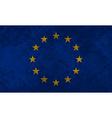 European Flag Grunge vector image vector image