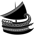 Greek ship vector image vector image