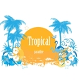 Background with tropical plants vector image