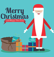 Christmas design over blue background vector image