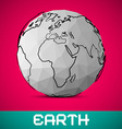Crumpled Paper Earth - Globe on Pink Backgro vector image
