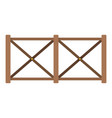 fence in town icon flat style vector image