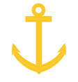 Gold anchor vector image