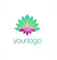 lotus flower spa color logo vector image