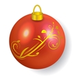 Red Christmas ball reflecting light New Year vector image