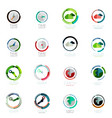 set of circle icons vector image