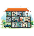 Various rooms in the house vector image