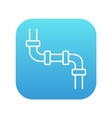 Water pipeline line icon vector image