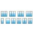 Varieties of PVC windows vector image
