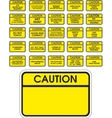Yellow caution signs vector image