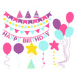 elements of decor for birthday vector image
