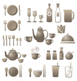 Dinner Restaurant and Eating Icons Set vector image