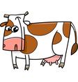 farm cow cartoon vector image