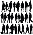 people silhouette walking vector image
