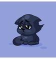 Black cat sad vector image