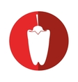 pepper vegetable food icon red circle vector image