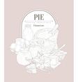 Pie ingredients Vintage Sketch vector image