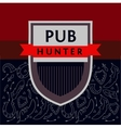 Pub Hunter Logo and background with the image of vector image