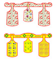 Set of Chopping boards vector image