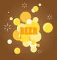 text and beer bubble vector image