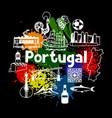 portugal print design portuguese national vector image