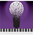 Music Notes Bulb vector image