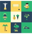 Brazil icons vector image vector image