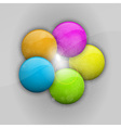balls in colors vector image vector image