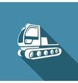 Snowcat icon Equipment for preparation of the ski vector image
