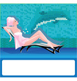 woman in spa center vector image vector image