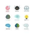 Brain creation invention inspiration idea vector image