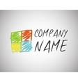 Business technology abstract logo template for vector image