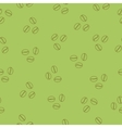 coffee beans seamless pattern green vector image
