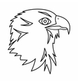 Eagle icon outline style vector image
