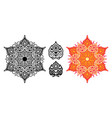 ethnic mandala with colorful ornament vector image
