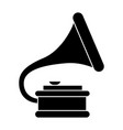 gramophone 2 icon black sign vector image