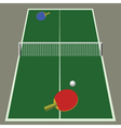 ping pong game vector image
