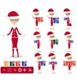 Santa Girl with Gifts vector image
