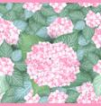 seamless vintage hydrangea flower pattern vector image